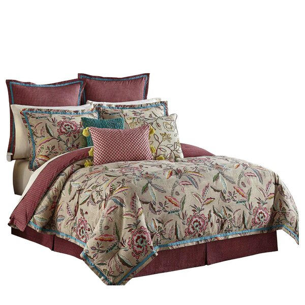 Key of Life 100% Cotton 4 Piece Reversible Comforter Set by Waverly